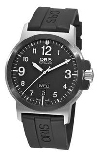 Oris 73576414364RS BC3 Advanced Day Date Black Rubber Strap