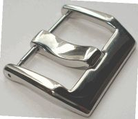 Bell and Ross Style Buckle 24mm Polish Spring Bar