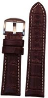 Hadley Roma 22mm Dark Brown Genuine Gator Leather