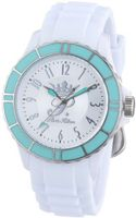 Flirt Round Hands Color: Silver, Case/Strap Color: White/White, Dial/Markers Color: Silver/Silver