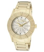 Heiress White Crystal White/Silver Glitter Dial Gold Tone Ion Plated Stainless Steel