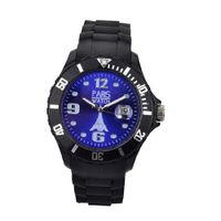 Paris Kids Silicone Quartz Calendar Date Black and Dark Blue Dial Designed in France Fashion