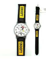 Black and Yellow Leather Band Snoopy - Snoopy