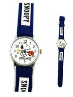 Blue and White Leather Band Snoopy - Snoopy