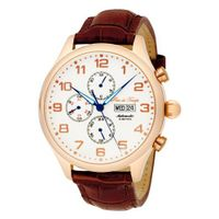 Pere de Temps Unisex 3018 Nouveau Classic Automatic Mechanical Stainless Steel Rose Gold Overlay