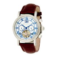Pere de Temps Unisex 3030 Debut II Sophisticate Automatic Mechanical Stainless Steel with Exhibition Dial