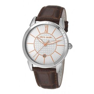 Pierre Cardin pc105911f03 mm Stainless Steel Case Brown Leather Mineral