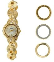 Pierre Jacquard BZ3 Gold-Tone Bezel Interchangable Gift Set