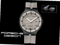Porsche Design Flat 6 P'6350 Automatic - Grey Dial - PVD Steel