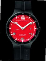 Porsche Design Flat Six Automatic , PVD-coated stainless steel, Red