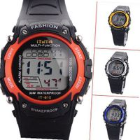 4 Colors Multi-Function Waterproof Sport With Function Of EL Backlight/Alarm/Stop/Week/Chrono for kids - JUST ARRIVE!!!