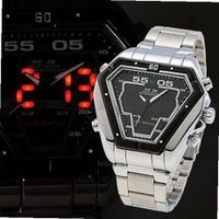 5 Colors WEIDE LED Digital Analog Alarm Day Date S/Steel Sport Waterproof - JUST ARRIVE!!!