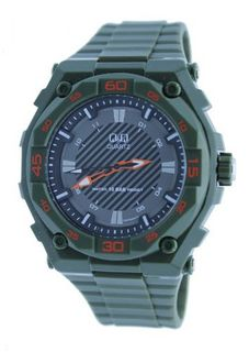 Q&Q Olive Green Resin Sport Adventure #GW79J007Y