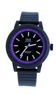 Q&Q 'Raven' Black&Purple Casual Fashion VR10J005Y