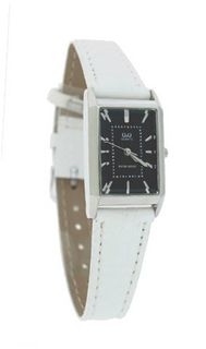 Q&Q White Elegant Leather Band #Q249-302Y