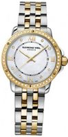 New Ladies Raymond Weil Tango Steel 18K Yellow Gold PVD Diamonds Mother of Pearl Dial 5391-SPS-00995