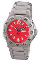 REACTOR 52011 Gamma Never Dark Red Dial Titanium Bracelet
