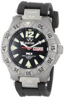 REACTOR 52801 Gamma Never Dark Black Dial Titanium Rubber Strap