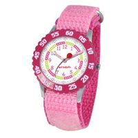 Red Balloon Kids' W000175 Pink Velcro Stainless Steel Time Teacher