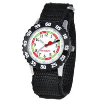 Red Balloon Kids' W000176 Black Velcro Stainless Steel Time Teacher