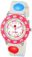 Red Balloon Kids' W000178 Printed Strap Stainless Steel Time Teacher