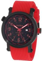 red line 18003-BB-01RD Compressor Black Dial World Time Red Silicone