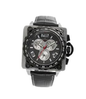 R?gnier Z?phir R1306 Chronograph Black Leather Strap 2040922