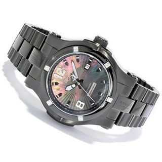Renato Limited Edition Swiss 25 Jewel Automatic Glassback Collection Gun Metal Black