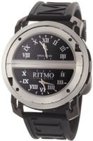 Ritmo Mundo 201/2 SS BLK Quartz Persepolis Triple Time Zone Orbital Case
