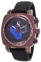 Ritmo Mundo 221 Brn Blue INDYCAR Series Quartz Chrono with Brown Ion-Plating Case