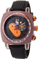 Ritmo Mundo 221 Brn Orange INDYCAR Series Quartz Chrono with Brown Ion-Plating Case