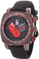 Ritmo Mundo 221 Brn Red INDYCAR Series Quartz Chrono with Brown Ion-Plating Case