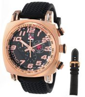 Ritmo Mundo 221 RG Carbon INDYCAR Series Quartz Chrono with Rose-Gold Ion-Plating Case