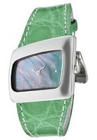 Curvi Green Mother of Pearl Dial Green Crocodile
