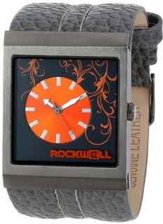Rockwell Time Unisex MC112 Mercedes Charcoal Leather and Orange