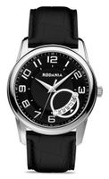 Rodania Swiss Celso Quartz with Black Dial Analogue Display and Black Leather Strap RS2503827