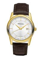Rodania Swiss Celso Quartz with Silver Dial Analogue Display and Brown Leather Strap RS2507330