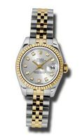 Rolex 18K yellow gold fluted bezel Day Just Ladies