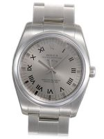 Rolex Airking Silver Roman Dial Domed Bezel 114200SASO