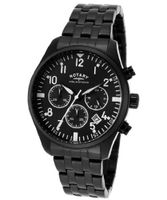 Aquaspeed Chronograph Black Dial Black Ion Plated Stainless Steel