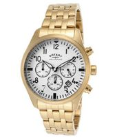 Aquaspeed Chronograph White Dial Gold Tone Ion Plated Stainless Steel