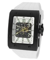 Editions Automatic Partially See Thru Dial Black IP Case White Rubber