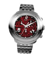 RSW 4130.BS.S0.14.00 Volante Chronograph Polished Stainless-Steel Red Chronograph Date