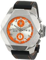RSW 4450.MS.V18.58.00 Nazca G Stainless-Steel Orange Automatic Chronograph Leather Date