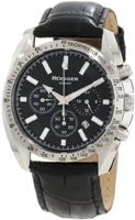 Rudiger R1000-04-007L Dresden Black Luminous Dial Black Leather Chronograph Tachymeter