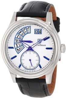 S. Coifman SC0289 White Dial Black Leather