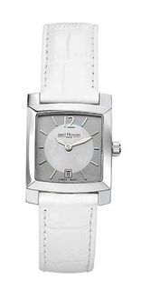Saint Honore 731027 1BYGN Orsay Square Mother-Of-Pearl White Leather