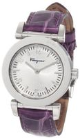 Salvatore Ferragamo F50SBQ9902 S109 Salvatore Violet Genuine Alligator