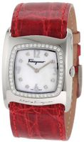 Salvatore Ferragamo F51SBQ9191i S800 Vara White Mother-Of-Pearl Diamond