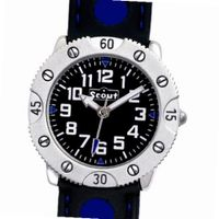 Scout 280316001 Boys' Analog Quartz Aluminum with Blue and Black Rubber Strap
